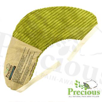 Precious Herbal Pillow Shoulder Pad Hot and Cold Compress Pain Reliever (White/Green)