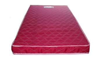 Primetex Foam Mattress with Quilted Cover (Red)