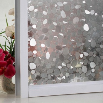 Privacy Window Film Frosted Window Stickers Self Adhesive StaticGlass 100*45cm - intl - 5