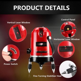 Professional Automatic Self Leveling 5 Line 6 Point 4V1H LaserLevel Measure MM - intl - 4