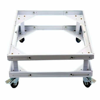 Prostar Lifted Refrigerator Base / Washing Machine Base / RangeOven Stand Dura Base Adjustable with Wheels (White)