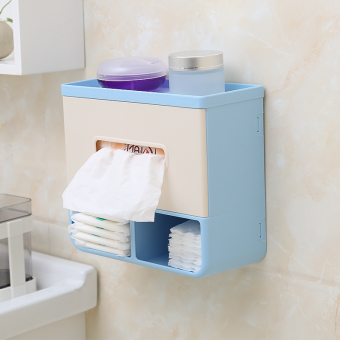 Punched bathroom roll tube tissue box roll holder