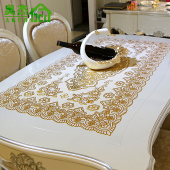 PVC silver porous living room coffee table cloth tablecloth