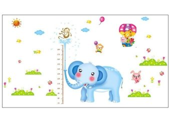PVC Wall Sticker Elephant Height Measurement (Double Sticker)