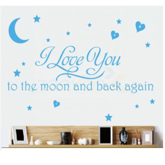 QT41 Removable Decal Wall STICKER Sticker (Blue) (Intl)