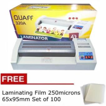 Quaff A3 laminator Heavy Duty Laminating Machine with FreeLaminating Film 250microns 65x95mm set of 100