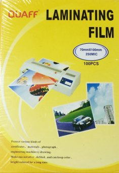 Quaff Laminating Film 70mm x 100mm (ID Size) 250 Micron Set of 2