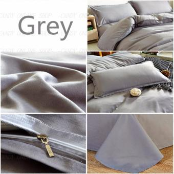 Quality Queen Size 4 Piece Bedsheet Sets (Grey) - 2