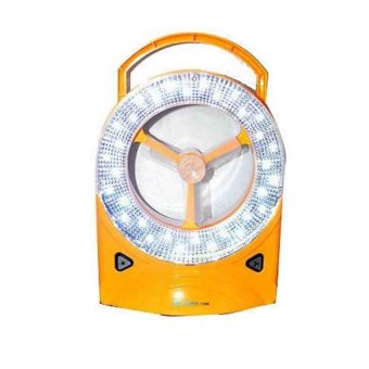 Rechargeable LED Light with Fan (Yellow)