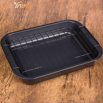 Rectangular non-stick oven dish with rack non-stick baking Mold