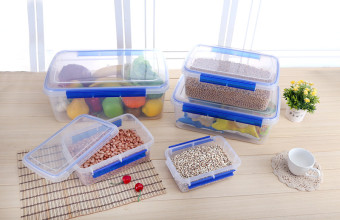 Refrigerator microwave sealed storage box plastic food container