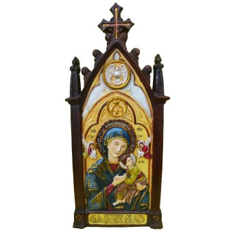Religious Item Our Lady of Perpetual Help Plaque / Wall decor (Made of Fiberglass Resin) by Everything About Santa (Christmas decoration and gift suggestion)