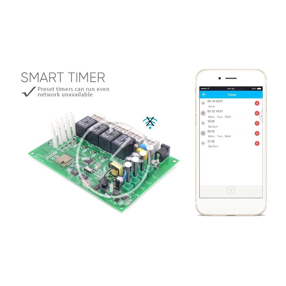 Philippines Remote Timer Switch Controller Inching Sonoff 4 On Off Channel Wifi Rfsmart Self Locking