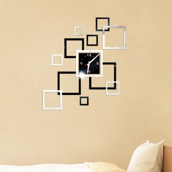 Removable Diy Acrylic 3D Mirror Wall Sticker Decorative Clock -intl - 3