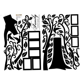 Removable Photo Frame Family Tree Wall Decal Sticker Kid Room HomeDecor Art DIY - intl Price Philippines
