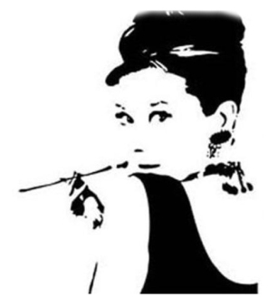 Removable PVC Wall Sticker Audrey Hepburn Room Decor Decals - intl