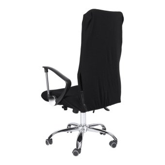 Removable Stretchy Swivel Chair Covers Office Armchair Soft Slipcovers (Black S) - intl - 3