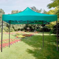 Retractable Foldable Tent Canopy Rainproof Gazebo 2m X 3m (Green)