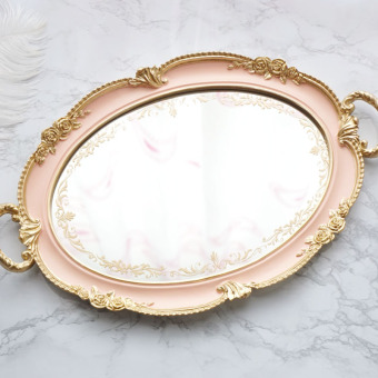 Retro mirror quality luxury tea tray
