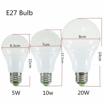 RGB LED Light Bulb - Color Changing with Remote Control,3W-E27-A50 - intl - 3