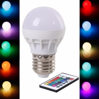 RGB LED Light Bulb - Color Changing with Remote Control,3W-E27-B50 - intl - 2