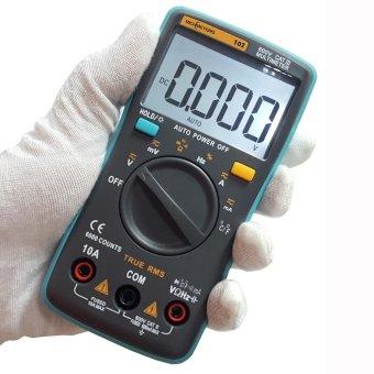 RICHMETERS RM102 True RMS Multifunctional LCD Digital MultimeterDMM DC AC Voltage Current Resistance Diode Capacitance TemperatureTester Measurement Automatic Polarity Identification AmmeterVoltmeter Ohm - intl - 2