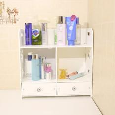 Rising Star Waterproof Wood Plastic Board Desktop Bathroom Storage Rack Dresser Drawer Cabinet 9002 White