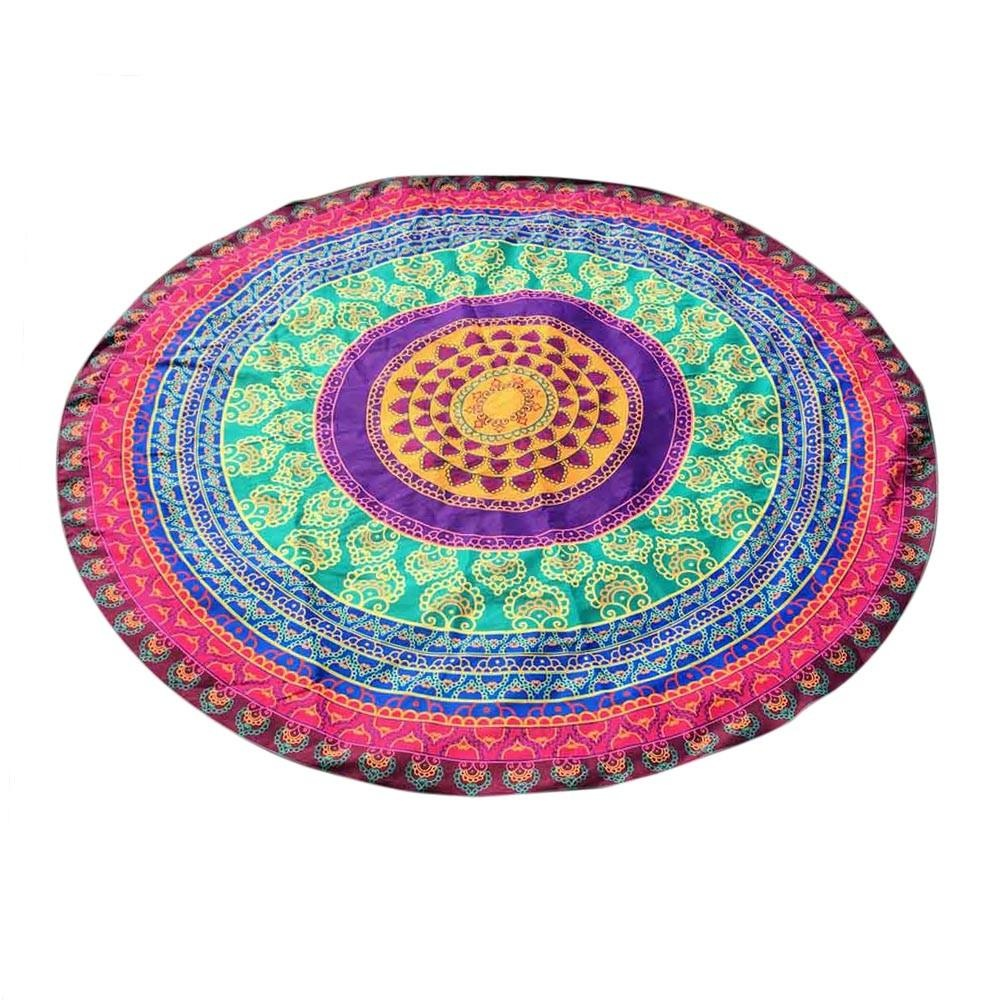 beach towel pattern mats decor circular small tassel sport mat from balls flowers round with picnic tapestry tablecloth product new yoga