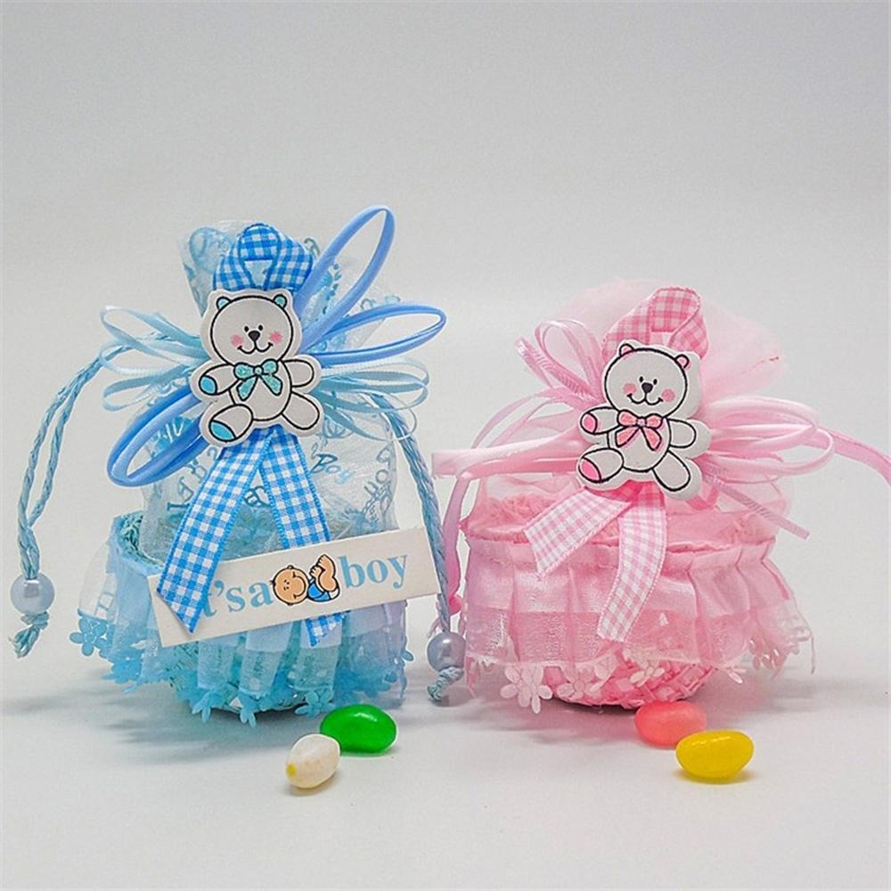 Ruixiang Candy Boxes Small Birthday Gift Girls Baby Decorations Treat Box SuppliesPink