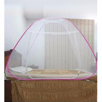 Rukia Classic King Size Double Plain Mosquito Net (Pink) - 2