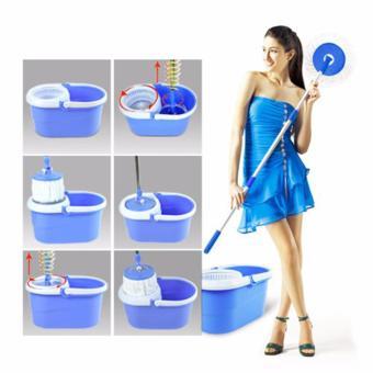 Rukia New 360? Microfiber Magic Rotating Spin Head Easy CleaningFloor Mop Bucket Set (Navy Blue) - 2