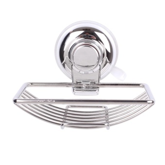 Rust-resistant Stainless Steel Wall-mounted Soap Dish Holder SaverBasket with Strong Vacuum Suction Cup for Bathroom Toilet Shower -intl