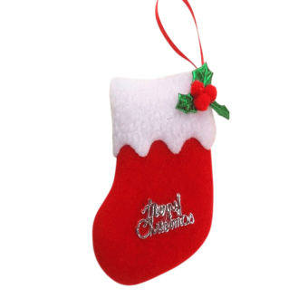 S & F Christmas Stocking Hanging Gift Bag 6 Pieces Red (Intl)