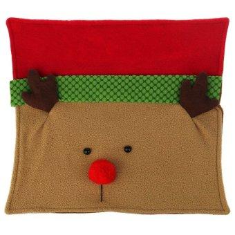 S & F Christmas Xmas Deer Elk Reindeer Pillow Sofa Cushion - Intl
