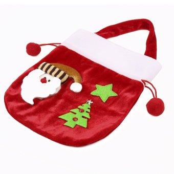 S & F New Year Christmas Candy Bag 2Pcs/lot Santa Bag Enfeite De Natal Red Santa Claus Decor Cristmas Decoration Christmas Candy Bag - Intl