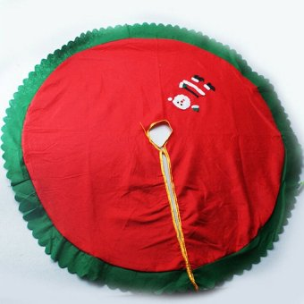 S & F Santa Tree Skirt Christmas 90cm (Intl) - picture 2