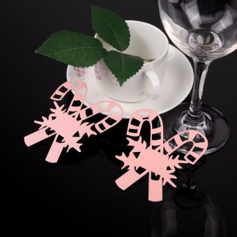 S & F 50 Table Wine Glass Name Place Card Wedding Christmas Decoration 02 Pink (Intl) - picture 3