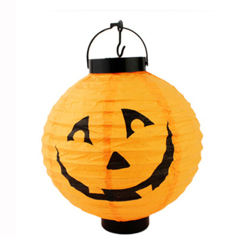 S & F Halloween Pumpkin Hanging Paper Lantern Decoration (Orange) (Intl)