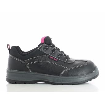 Safety Jogger Bestgirl Steel Toe Cap and Steel Midsole Safety Shoes (Black)