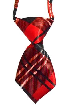 Sanwood Adjustable Dog Pet Necktie (Red)