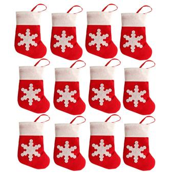 Sanwood® Xmas Socks Cutlery Bag Christmas Decor 12Pcs/Set - picture 2