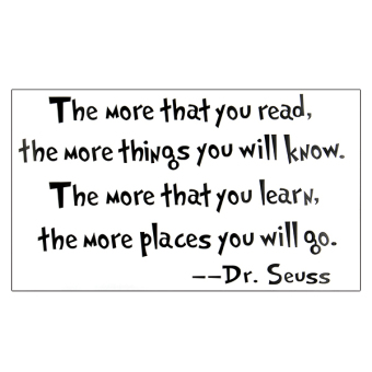 Saying Quote DR SEUSS Words Wall Sticker Vinyl Decal Sofa Decor Art DIY Black