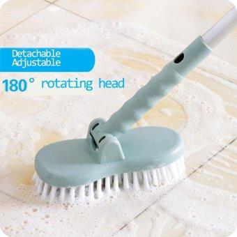 Scalable Rotatable Long Handle Brush Bathroom Floor/Wall/Bathtub Plastic Hard Stain Remover Dust Cleaning Scrub Brush with Stiff Bristle - intl