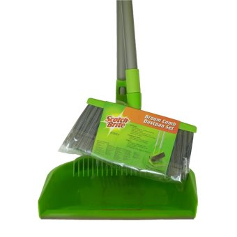 Scotch-Brite Broom Comb-Dustpan Set (Green)