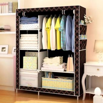 SeanSean Lovely Designs Storage Wardrobe Clothes Organizer KW-105NT (Brown)