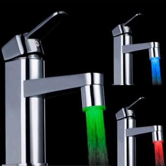 Sensor LED Lights 7 Colors Changing Shower Head Water Faucet ForKitchen Bathroom (Multicolors) - Intl - 4
