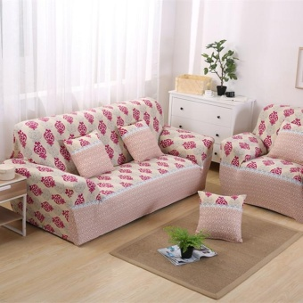 Set 1 + 2 + 3 Seater Stretch Slipcover Sofa Couch Protector Cover Case Home Decor Flower #8 - intl
