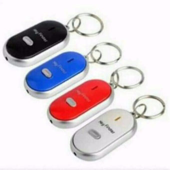 Set of 2 Key Finder with led light easy to use just whistle COLORMAY VARY