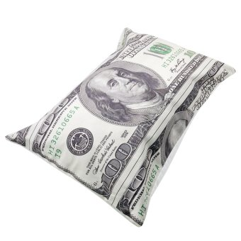Set of 2 Perfect Cotton Bedding Pillow Case Cool One Hundred Dollar - 2