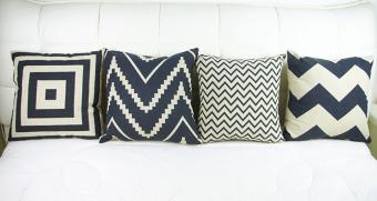 Set of 4 Retro Style Throw Pillow Case Pillowcase Sofa Home Decor Cushion Cover - 2